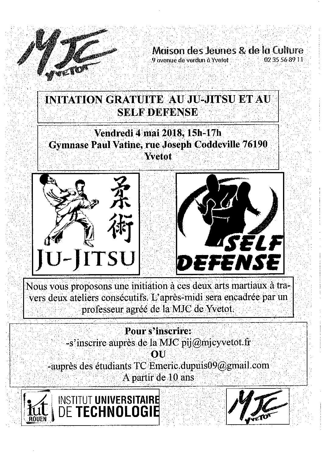 affiche initiation self defense IUT rouen