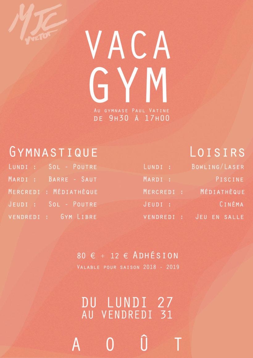 Vaca Gym MJC Yvetot été 2018