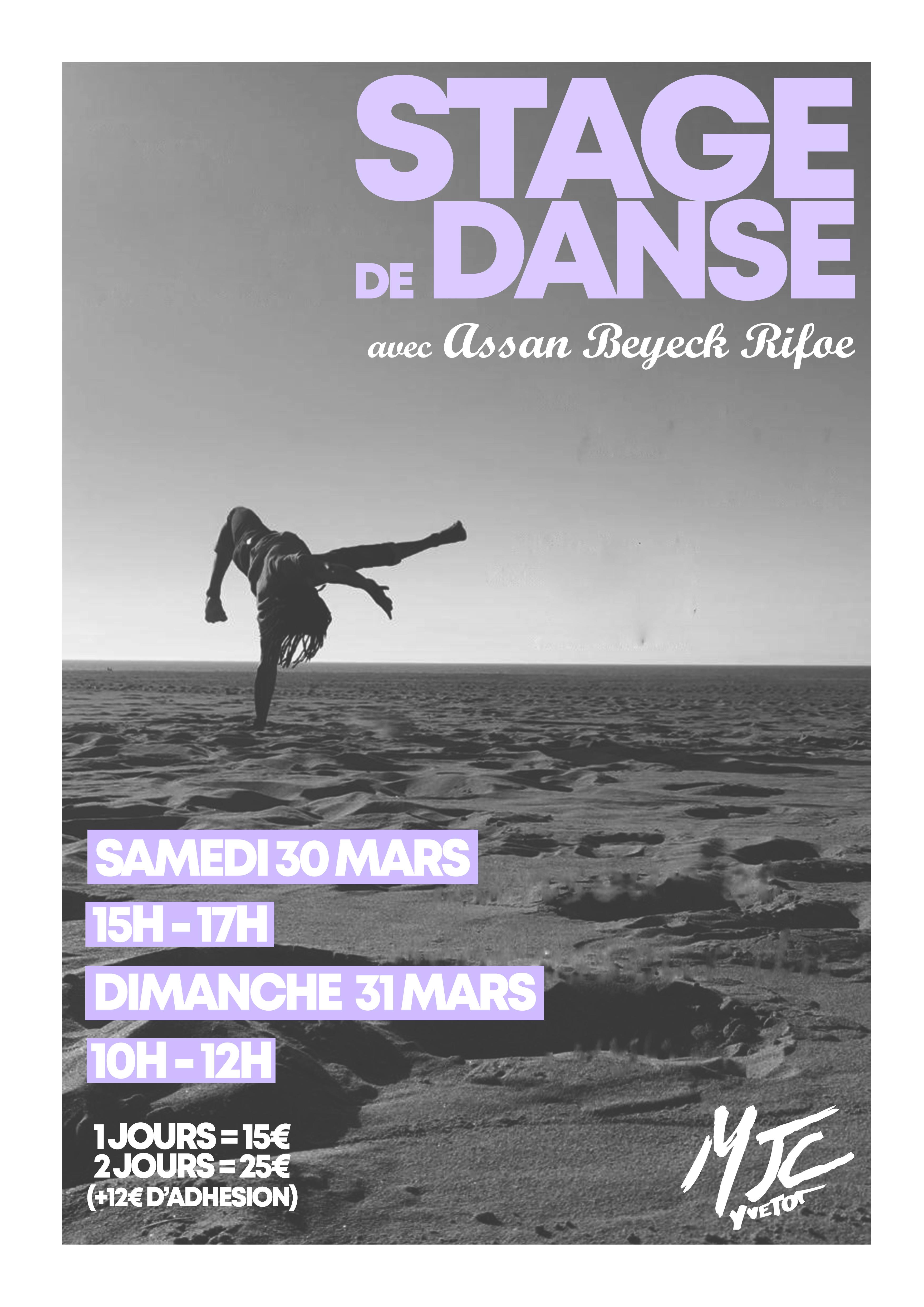 Stage Danse 30 et 31 mars 2019 MJC YVETOT