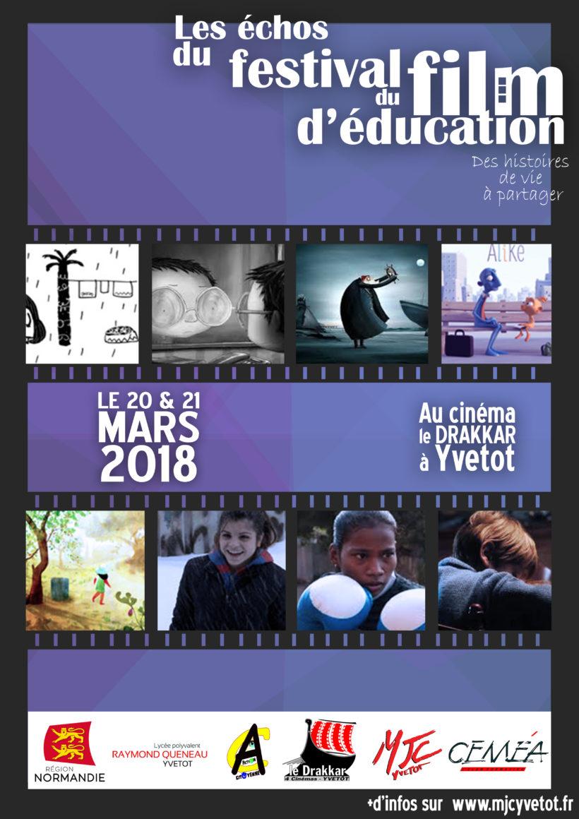 Les échos du festival du film d'éducation les 20 et 21 mars 2018 à Yvetot éducation populaire action citoyenne région normandie lycée raymond queneau le drakkar cinéma yvetot mjc cemea normandie
