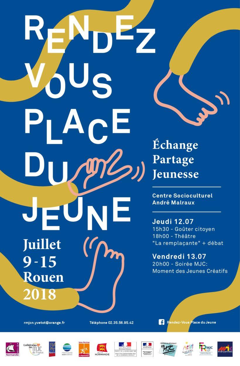 Rendez-vous place du jeune du 9 au 15 juillet 2018 à Rouen maison des jeunes et de la culturel mjc