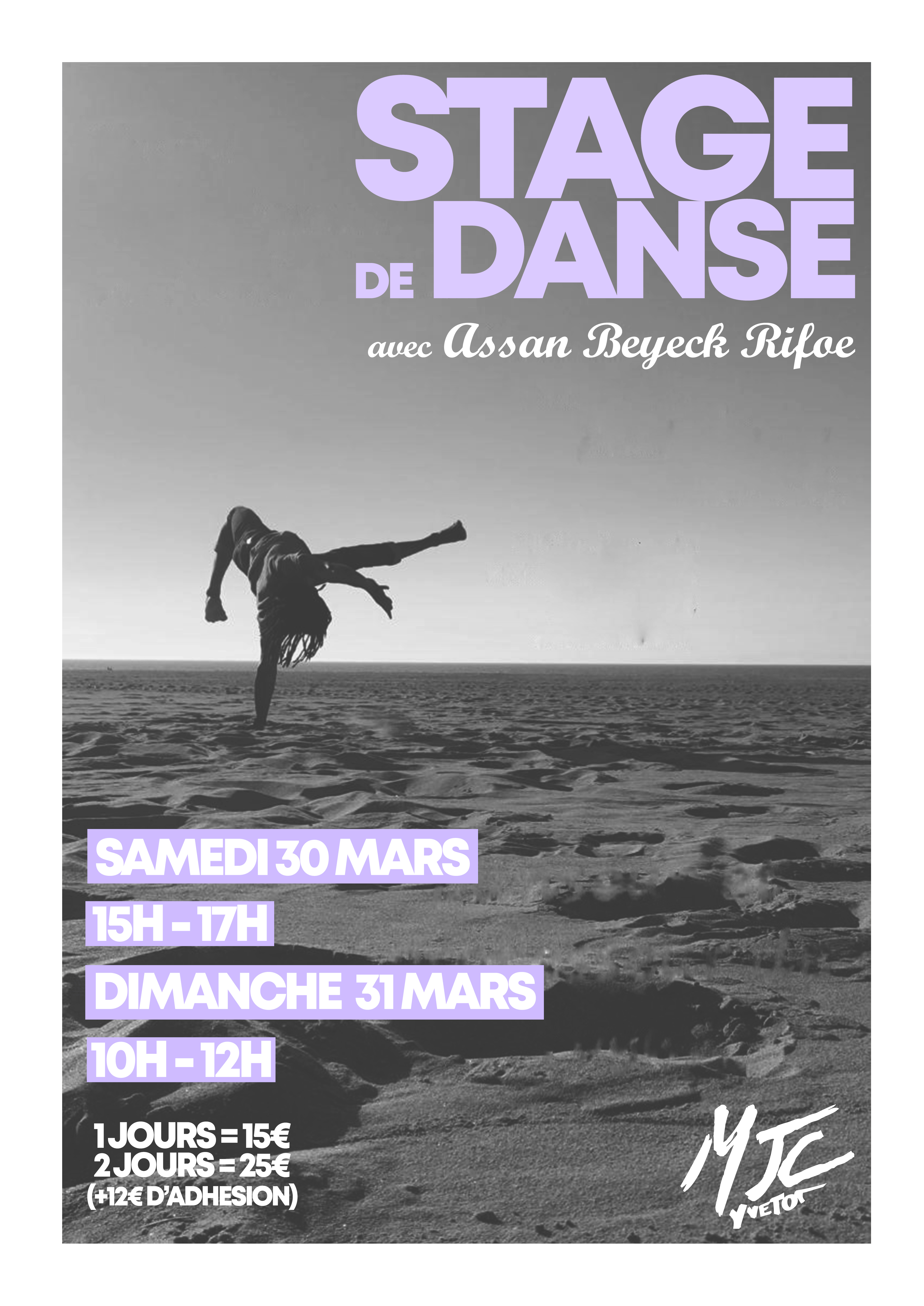 Stage Danse 30 et 31 mars 2019